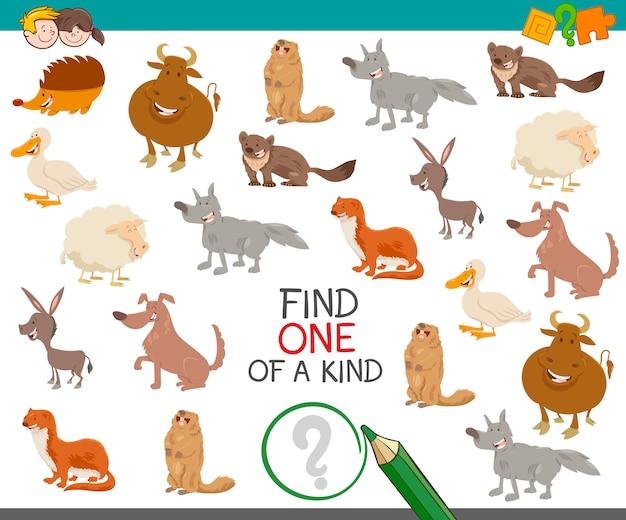 Znajdź jedyne w swoim rodzaju ze zwierzętami
