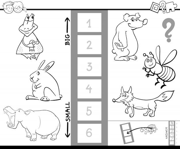Znajdź największą książeczkę kolorów zwierząt