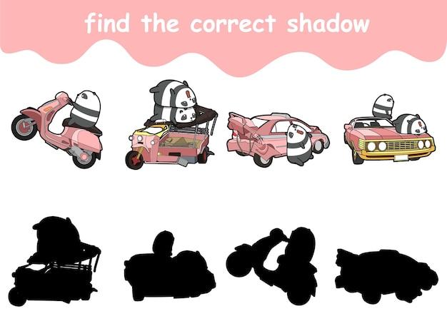 Znajdź odpowiedni cień pand za pomocą pojazdu