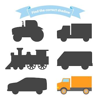Znajdź odpowiedni cień w motywie transportowym