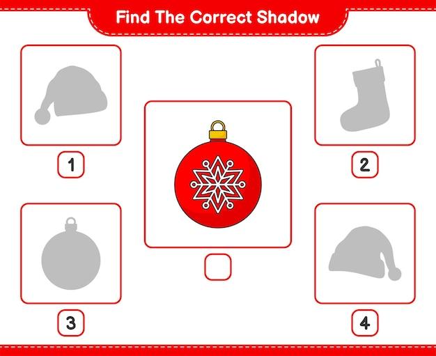 Znajdź odpowiedni cień znajdź i dopasuj odpowiedni cień christmas ball