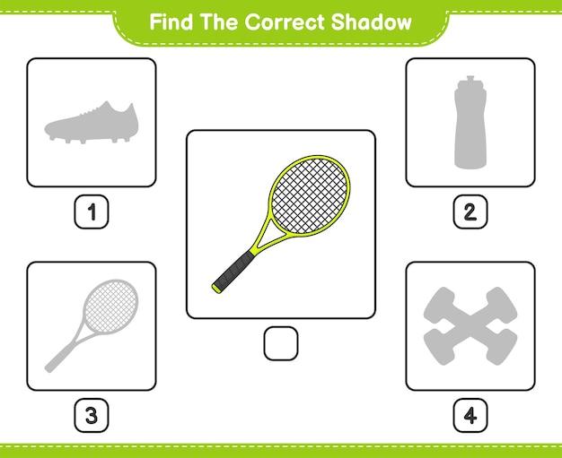Znajdź odpowiedni cień znajdź i dopasuj odpowiedni cień rakiety tenisowej
