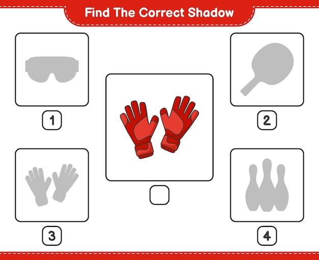 Znajdź odpowiedni cień znajdź i dopasuj odpowiedni cień rękawic bramkarskich