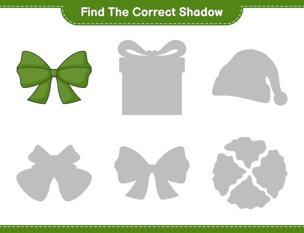 Znajdź odpowiedni cień znajdź i dopasuj odpowiedni cień wstążki gra edukacyjna dla dzieci