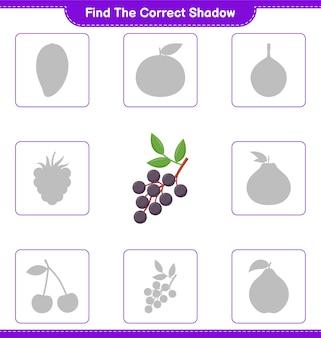 Znajdź odpowiedni cień. znajdź i dopasuj odpowiedni odcień czarnego bzu. gra edukacyjna dla dzieci, arkusz do druku