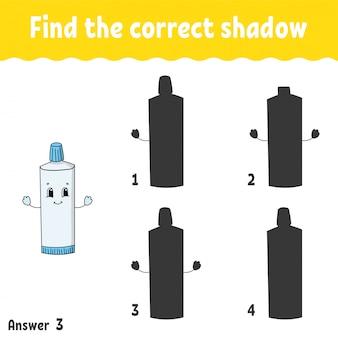 Znajdź odpowiedni cień.