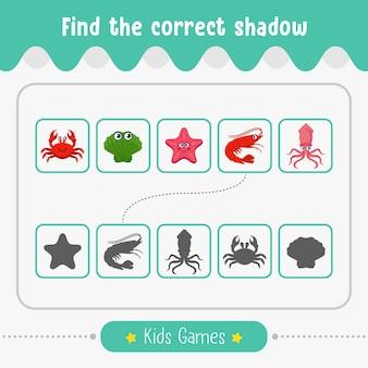 Znajdź odpowiednią grę dla dzieci w cieniu do zajęć edukacyjnych