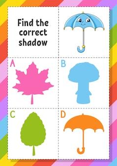 Znajdź odpowiednią ilustrację cienia