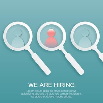 Znajdź odpowiednią osobę. wybór utalentowanych osób do zatrudnienia.