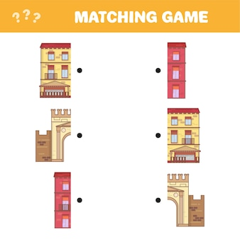 Znajdź odpowiednią parę dla każdej części, gra edukacyjna. ilustracja kreskówka wektor