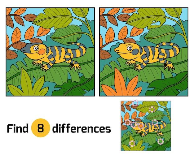 Znajdź różnice edukacyjne dla dzieci, xenosaurus