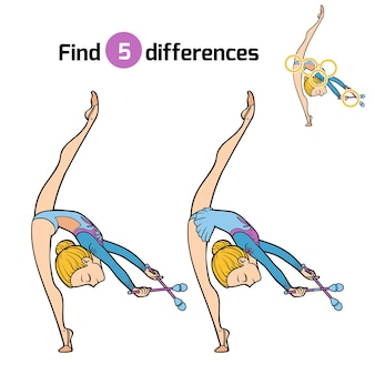 Znajdź różnice, gra edukacyjna dla dzieci, kluby gimnastyczne i żonglerskie