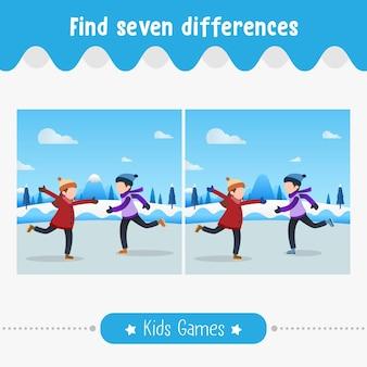 Znajdź różnice na zdjęciach, dzieci dla dzieci w wieku przedszkolnym