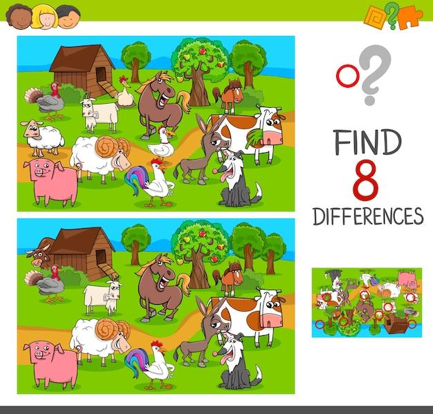 Znajdź różnice ze znakami zwierząt hodowlanych