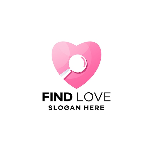 Znajdź szablon logo gradientu miłości