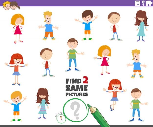 Znajdź zadanie dla dwóch znaków dla dzieci