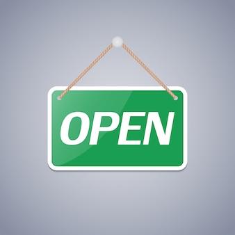 Znak biznesowy otwarty