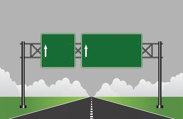 Znak drogowy autostrady