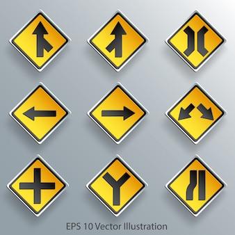 Znak drogowy kierunku