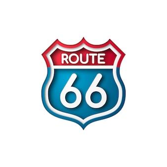 Znak drogowy route 66.