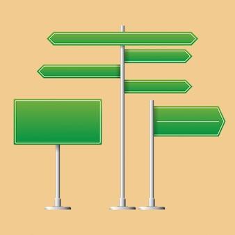 Znak drogowy w wielu kierunkach