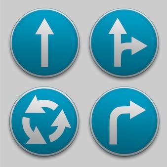 Znak drogowy ze strzałką