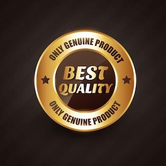 Znak jakości premium najwyższej jakości z oryginalnymi produktami