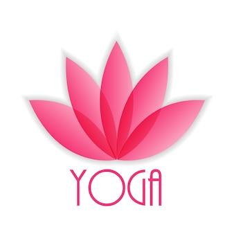 Znak kwiatu lotosu dla wellness, spa i jogi. ilustracja wektorowa