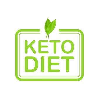 Znak logo diety ketogenicznej. dieta keto. ilustracja wektorowa