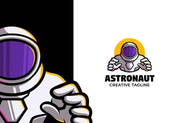 Znak logo maskotki astronauty