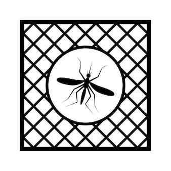 Znak moskitiery z ramką na ikonę okna pcv prosty znak przeciw owadom, siatka ochronna