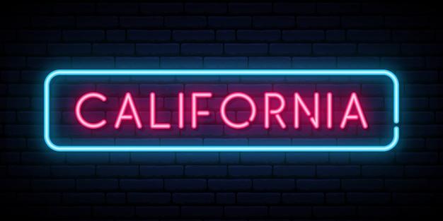 Znak neon kalifornii.