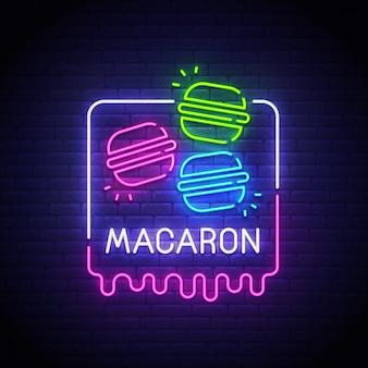 Znak neon macaron