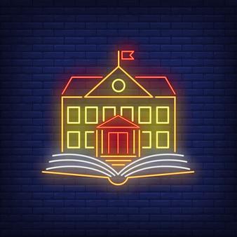 Znak neon szkoły