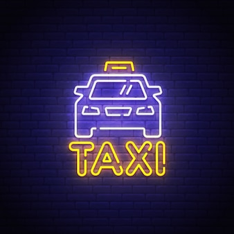 Znak neon taxi