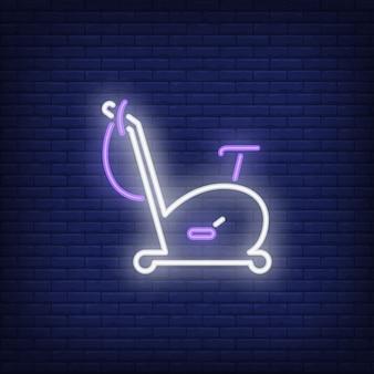 Znak neonu roweru treningowego