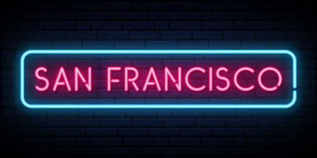 Znak neonu w san francisco.