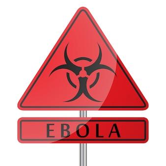 Znak niebezpieczeństwa wirusa ebola