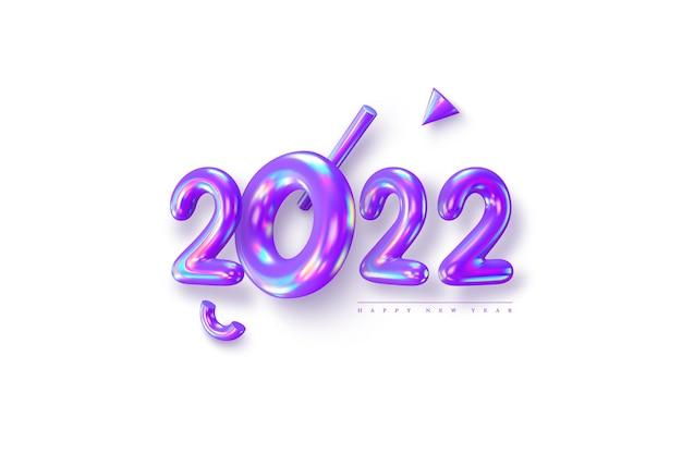 Znak nowego roku 2022.