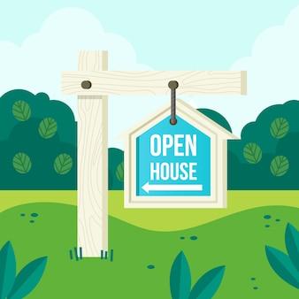 Znak otwarty dom do zakupu