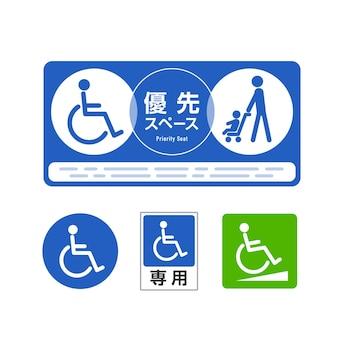 Znak pierwszeństwa wózka inwalidzkiego