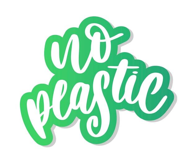 Znak produktu bez plastiku dla etykiet, naklejek bez plastikowych liter