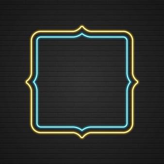 Znak retro showtime ramka światła neon signage
