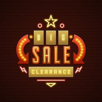 Znak retro showtime sprzedaż żarówek signage kina