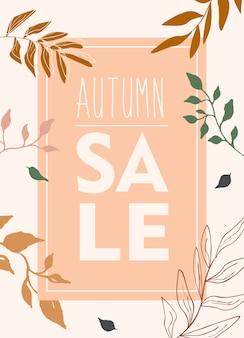 Znak sprzedaży jesień