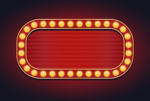 Znak świetlny markiza żarówki świecące stylu vintage