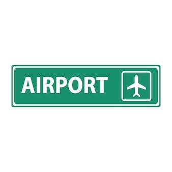 Znak terminalu odlotu i przylotu samolotu lotniskowego.