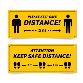 Znak transparent odległości społecznej