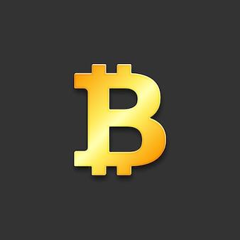 Znak waluty cyfrowej bitcoin