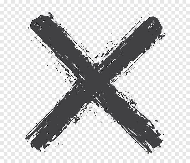 Znak x grunge